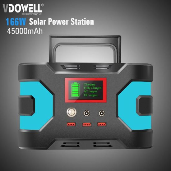 150W 110/220V Portable Electrical Power with Lithium Battery with AC, DC 12V and USB 5V Output for Outdoors Camping Travel Fishing Hunting Vdowell 2019 New