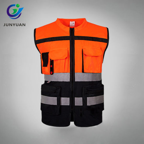 Good Quality Reflective Vest Safety Vest with Pockets pictures & photos