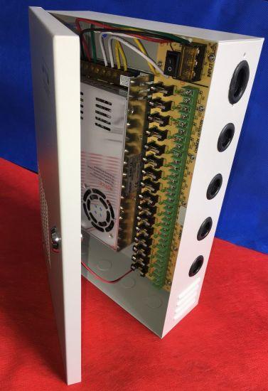 16CH Outputs 12V33A 400W CCTV Camera Access Control Central Power Supply Unit Distribution Box