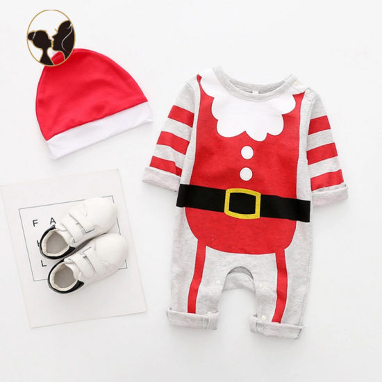 Suzhou Angels Customized Christmas Style Toddler Romper with Cap