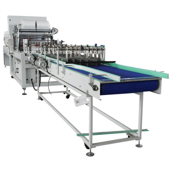 Automatic Water Juice Glass Plastic Bottle Cardboard Trayer Shrink Sleeve Wrap PE Film Wrapping Packing Wrapper Packing Machine