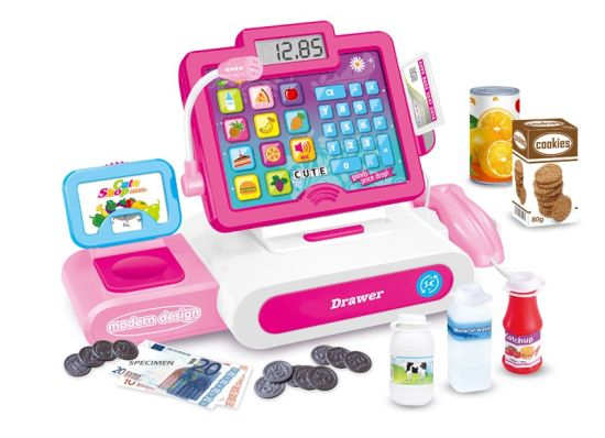 China Children Toy Battery Operated Cash Register Girl Pretend Play