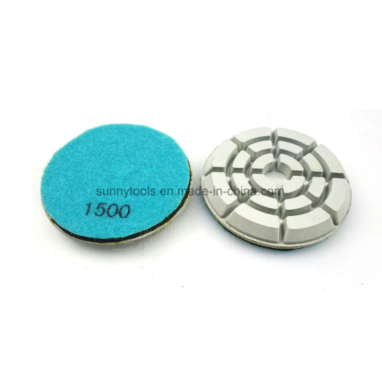 3 inch 3 X Grit 6000 Diamond Polishing Pad Granite Marble concrete Floor renew