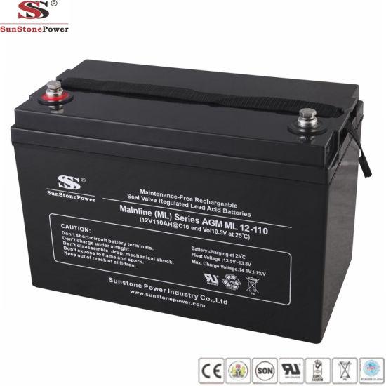 China Supplier 12V 96ah AGM Solar Batteries UPS Battery Backup