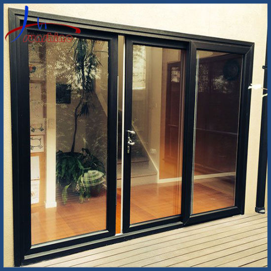 Thermal Break Aluminum Double Glass, What Is The Standard Size Of Patio Sliding Doors