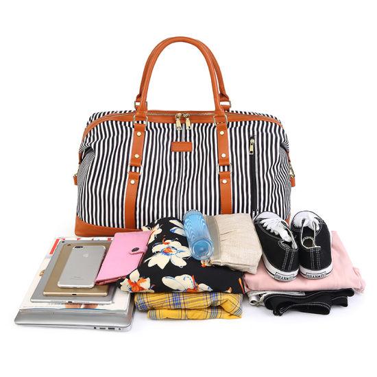 Womens Weekend Travel Bag with Stripe Printing