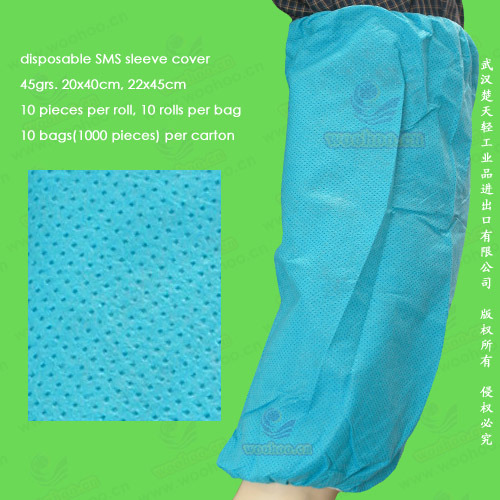 Disposable Non-Woven/Non-Woven/Non Woven/PP+PE/SMS/PP Sleeve Cover, Disposable Oversleeves