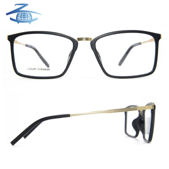 China Retro Flexible Tr90 Optical Frame with Metal Temple Glasses ...