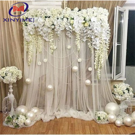 Elegant Organza Drapes Curtain Wedding Backdrop Fabric Decoration for Party