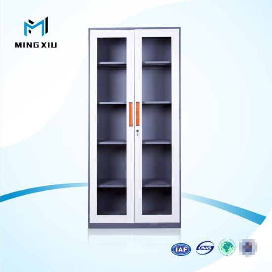 Mingxiu 2 Swing Glass Door Used Steel Storage Cabinets / Storage Office Filing Cabinet & China Mingxiu 2 Swing Glass Door Used Steel Storage Cabinets ...