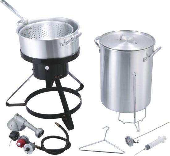 Aluminium Turkey Pot Fish Fryer Cooker Fish Pot Cookware Set