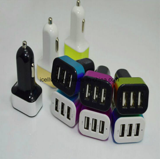 3A Fast Charge 3 Port USB Type Fast Car Charger Station AC Power Adapter USA pictures & photos