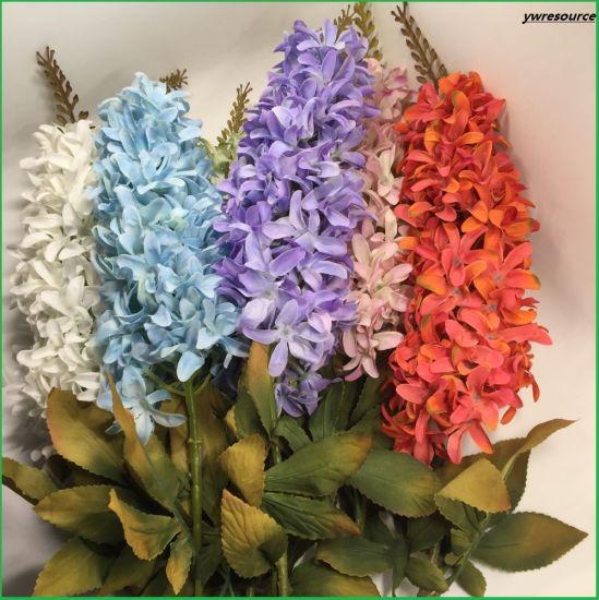 China Silk Fake Delphinium Artificial Flowers Cheap For Home Wedding