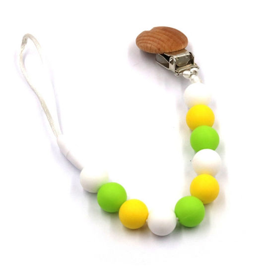 Silicone Teething Necklace Nursing Jewelry Teether Baby Chew Toy Gifts L
