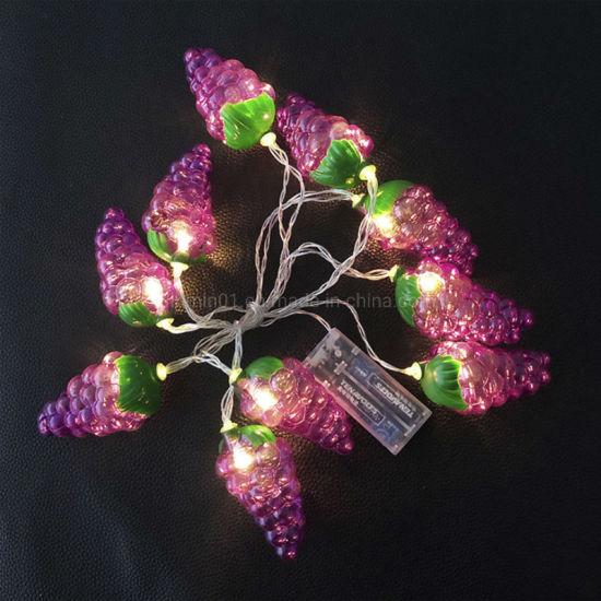 Fruit Grape Shaped Decoration Christmas Strip LED String Light