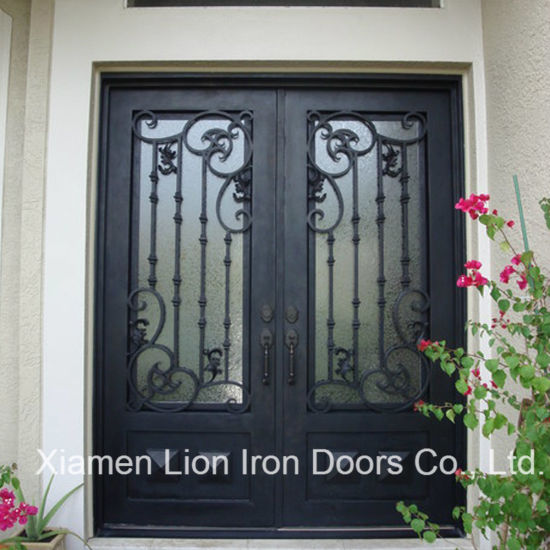 China Affordable House Used Wrought Iron Grill Door China