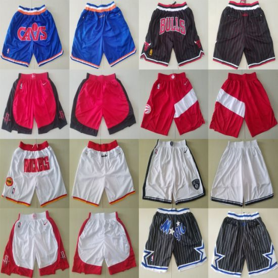 Wholesale Just Don N-B-a Bulls Magic Cavaliers Rockets Basketball Shorts