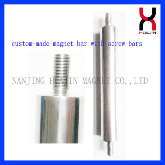 Stainless Steel 304/316 Neodymium Magnet Bar with External Thread