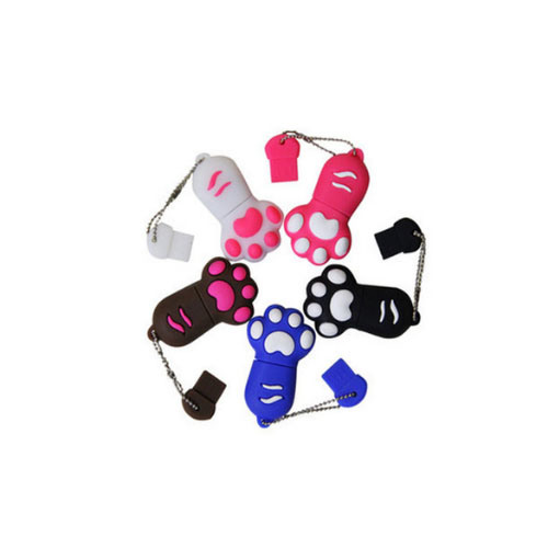 Cat′s Paw USB Creative Personality Silicone Mini USB Flash Drive Customized Logo 256GB pictures & photos