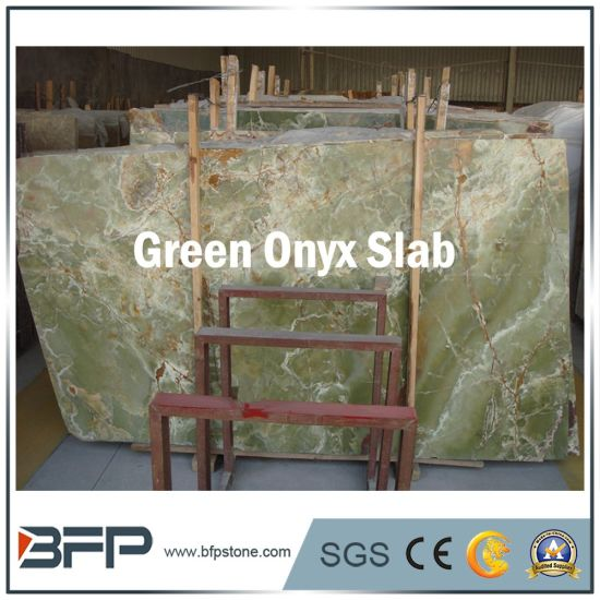 Wholesale Light Green Onyx Stone Onyx Slabs for Floor Tiles pictures & photos