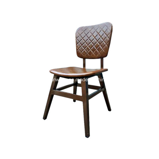 Imitated Wood Metal Restaurant Cafe Pub Bistro Chairs (JY R53)