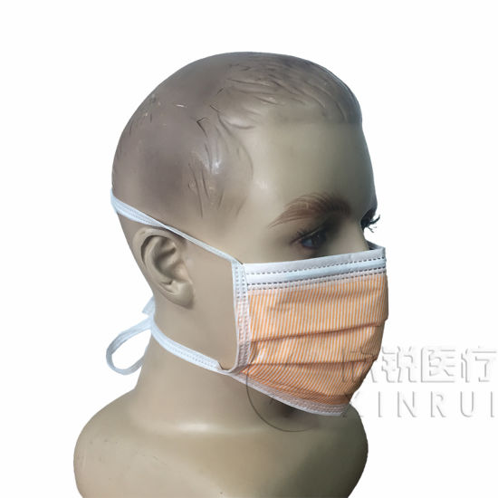 Disposable 4-Ply Non-Woven High Level Surgical Face Mask with Tie-on and Foam Cushion