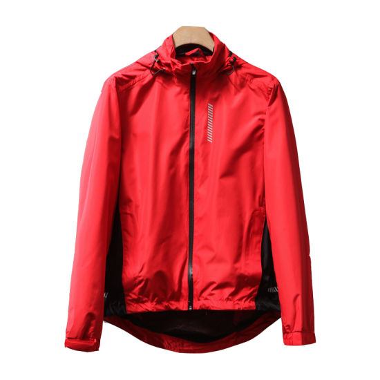 Running Cycling Pressure Rubber Jacket Reflective Strip Jacket