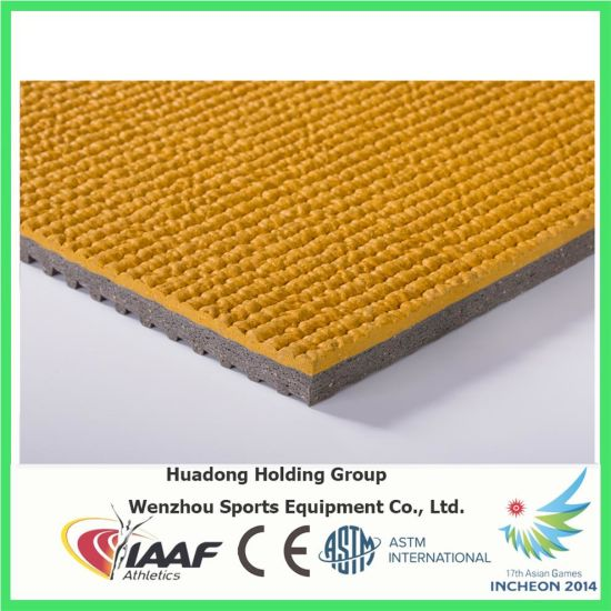 Iaaf Synthetic Rubber Running Track for Gymnasium, Field and Sports Stadiums Used Rubber Running Track pictures & photos