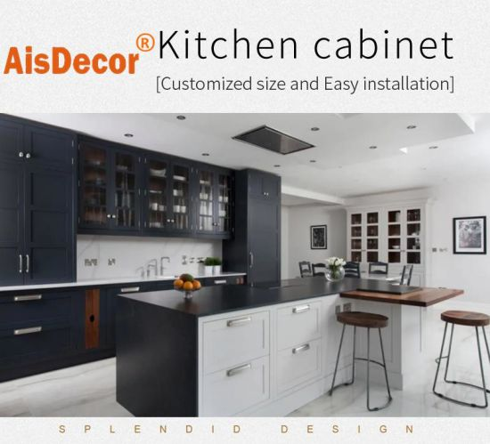 Classic and Modern Design Home Furniture Luxury Shaker Style Solid Wood Kitchen Cabinet