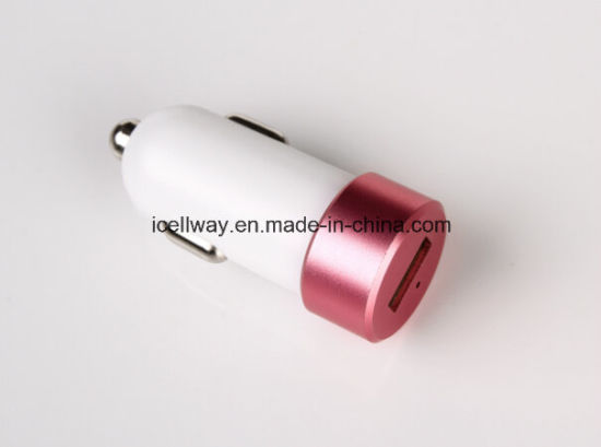 Colorful USB Car Charger with Ce, RoHS, FCC Certification pictures & photos