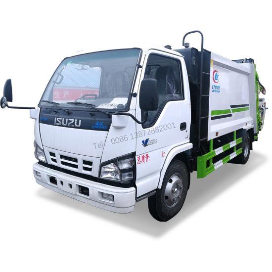 Japan Brand 4X2 700p 6m3 Garbage Compactor Truck Isuzu