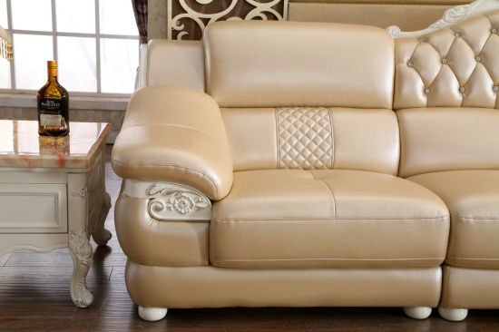 Royal Style L Shape Leather Sofa, New Classic Home Furniture (6020) pictures & photos