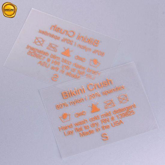 0703b57ff China Sinicline Colored Printed Bikini Heat Transfer Tagless Label ...