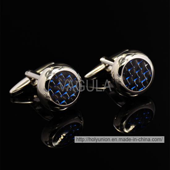 VAGULA High-End Silver Round Cufflinks