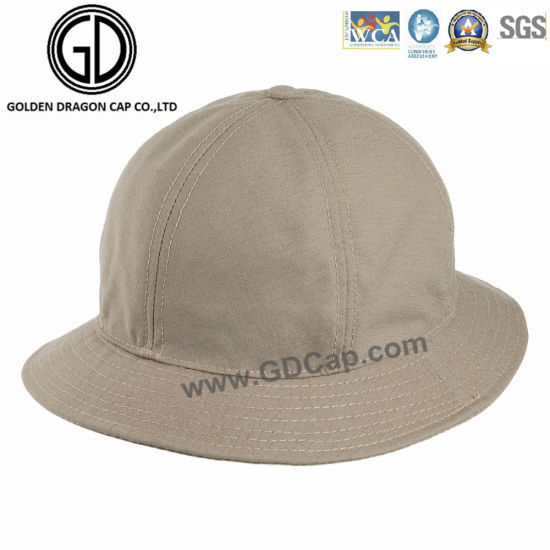 Professional Low Crown Khaki Cotton Bucket Hat with Customized Logo  pictures   photos 4a2210196357