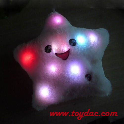 Plush Seven Colorful LED Lights Cushion