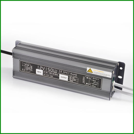 AC to DC 12V Constant Voltage 150W Outdoor IP67 Waterproof LED Driver with Ce RoHS