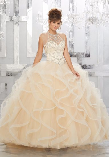 8b5a2e7281 Elegant Crystal Beaded Ballgown Ladies Party Dresses Quinceanera Gown  (89154)