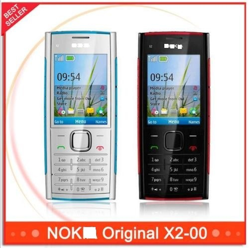 Original Unlocked X2 Nokya X2-00 Bluetoothfm Java 5MP Cell Phone