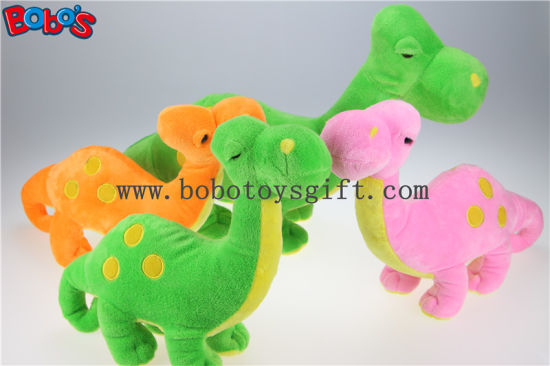 Soft Orange Plush Dinosaur Toy with Embroidery Bodybos1194 pictures & photos