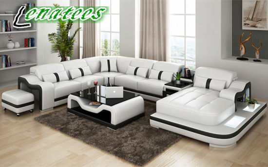 China G8027 Luxury Size Leather Mdoern Sofa Storage Design China