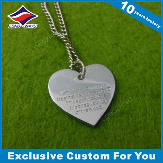Cheap Wholesale Heart Shape Dog Tag
