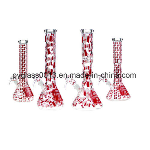 Hot Sale High-Quality Red Color Recycler Glass Smoking Water Pipes