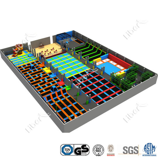 Patented Design Meet En1176 Standard Skyzone Trampoline Park pictures & photos