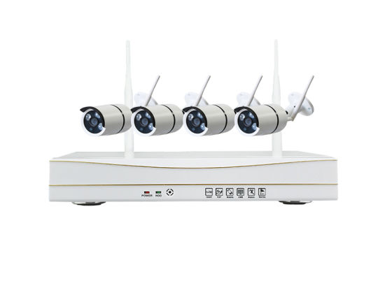 4CH 720p HD Wireless NVR CCTV Kits No Wiring WiFi IP Camera with Waterproof Android Ios Viewing
