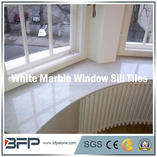 Elegant White Marble Window Sill for Kitchen/Bathroom/Living Room Window