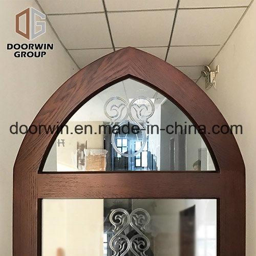 China European Style Entry Door Glass Insert Wood Interior Door Made