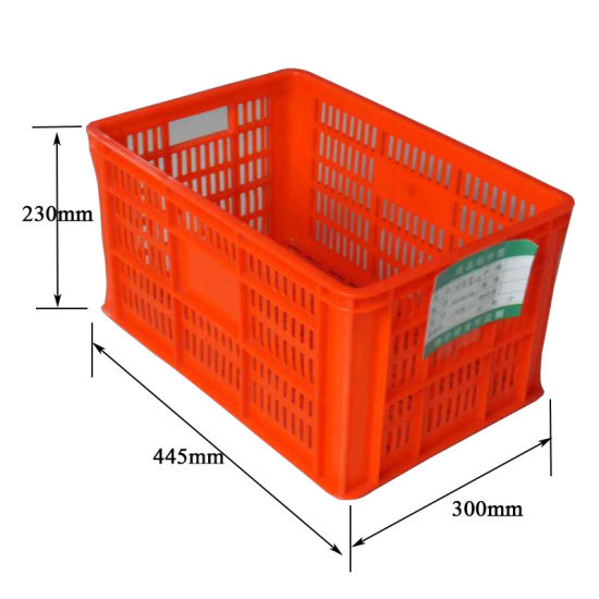 Por Large Fruits Folding Plastic Mesh Storage Strawberry Basket