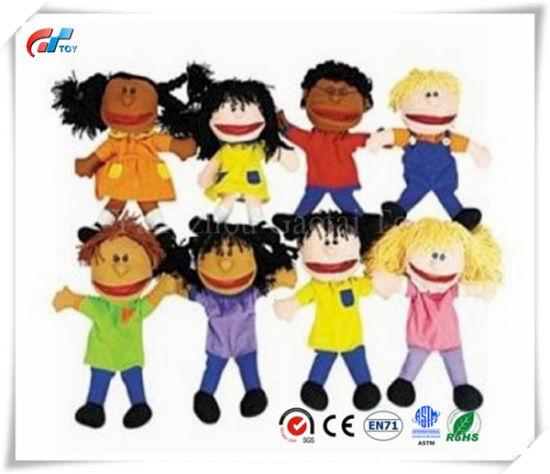 Plush Happy Kids Hand Puppets Multi-Ethnic Collection Novelty