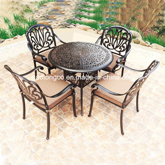 China Fendias 3 Pcs Cast Aluminum Outdoor Bistro Garden Set With W